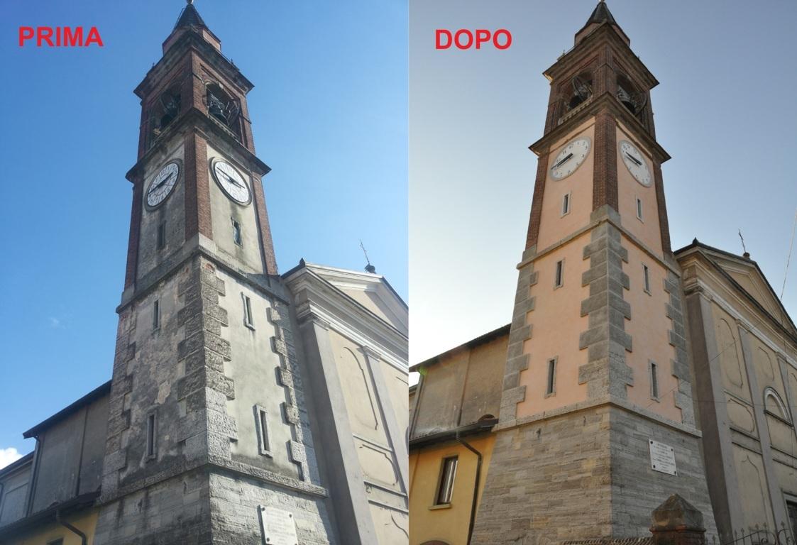 Rastauro campanile di Bregnano (CO)